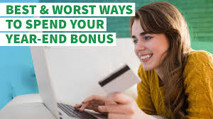 best and worst ways to spend your year end bonus gobankingrates