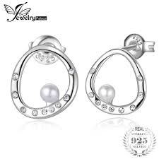 <b>JewelryPalace</b> Round Shape Shell Pearl Curved Circle Earrings ...