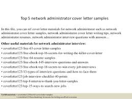 top 5 network administrator cover letter samples in this file you can ref cover letter cover letter network administrator