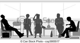 Image result for patients sitting in a clinic clip art images