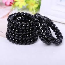 <b>4PCS</b> /lot <b>Hot Sale</b> Black Hair Rope PLUS Black Telephone Line ...