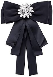 Sunvy Fashion Brooches Pin Bow Tie Crystal Dangle ... - Amazon.com