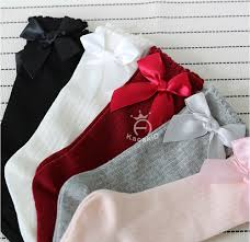 Combed <b>Cotton</b> Baby Socks <b>Bow Lace</b> Meia Baby Girls Socks Knee ...