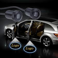 jurus 2pcs led car door light welcome lamp replace case for toyota corolla reiz prado logo laser projector accessories
