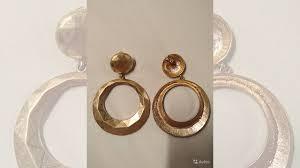 <b>Золотистые</b> граненые <b>серьги</b>-круги <b>Lisa Smith</b> | Объявление на ...