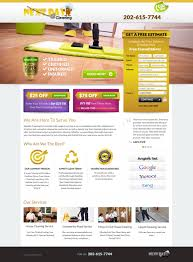 landing page for maid service web design com landing page for maid service webpage winner