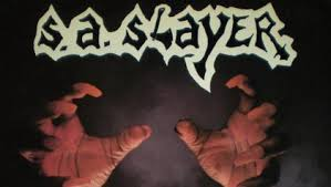 S.A. SLAYER Featuring MACHINE HEAD Drummer DAVE MCCLAIN: Early Recordings To Be Re-Released - saslayergoforthethroatcd_420x237