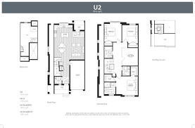 U   Urban Town at Harbour Cove in Whitby by Liza Communities    Floor Plans