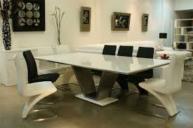 hardware dining table exclusive: view in gallery marble and stainless steel dining table from restoration hardware
