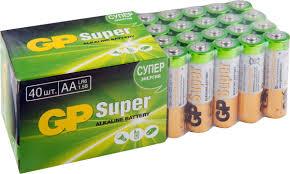 "<b>Набор алкалиновых батареек</b> ""GP <b>Batteries</b>"", тип АА, 40 шт ..."