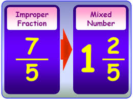 Image result for fractions mixed number