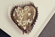 Valentine Message Brownies