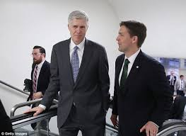 Trump     s Supreme pick dodged questions      like the plague        Daily     Daily Mail Warmer reception  Ben Sasse  the Republican senator from Nebraska  said of the Democratic