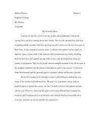 Uc Sample Essay College Narrative Essay Example Essay Example How To Write A Personal Narrative Thesis     Brefash