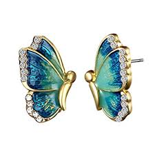Buy Moneekar Jewels Oil Painted <b>Butterfly</b> Stud <b>Earrings</b> ...