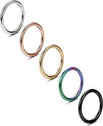 Jstyle 5 Pcs a Set 316L Stainless Steel Septum ... - Amazon.com