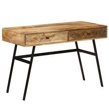 Writing Desk with Drawers Solid Mango <b>Wood</b> 110x50x76 cm Sale ...
