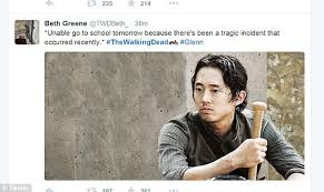 Walking Dead fans react to Glenn's 'death' on Twitter with shock ... via Relatably.com