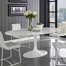 Eero Saarinen Style Oval Tulip MarbleTop Dining  Conference - Dining room tables oval