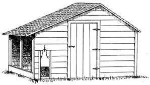 Profitable Poultry Production   Chapter Fresh air poultry house