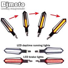 bjmoto motorcycle 3 led license plate white light dc 12v motorbike car number lamp