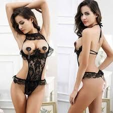 Pin on Female <b>sexy</b> underwear lace flowers open chest <b>half body</b> ...