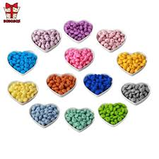 BOBO.BOX <b>12mm</b> 100pcs Silicone Lentil Beads <b>Food Grade</b> ...