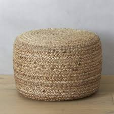 <b>Black Braided</b> Jute <b>Pouf</b> + Reviews | CB2 | <b>Pouf</b> seating, <b>Pouf</b>, Floor ...