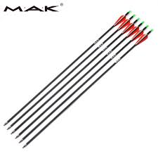 <b>6/12/24 pcs Carbon Arrow</b> 28/30 Inch Spine 500 with Replaceable ...