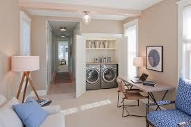 beige side chair laundry room beach style with blue side chair beige sofa beach style laundry room
