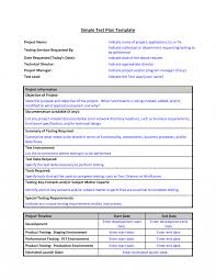 test plan template format sample of work word simple action it