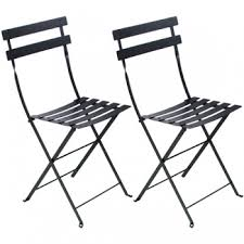 <b>Bistro</b> Metal <b>chair</b>, <b>2 pcs</b>, liquorice