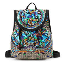 Goodhan <b>Vintage Women</b> Embroidery Ethnic <b>Backpack</b> Travel