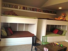 bedroom fascinating modern minimalist kids room lovely handmade built in beds furnishing double white bunk bed bedroom furniture built in