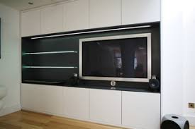 <b>TV Cabinet With LED</b> Lit Glass Shelves - Современный - Лондон ...