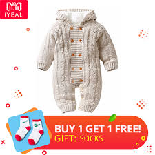 IYEAL Thick Warm Infant <b>Baby Rompers Winter Clothes Newborn</b> ...
