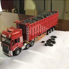 2019 Children'S <b>Alloy</b> Toy Dump <b>Truck</b> Tipper Semi Trailer ...