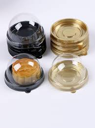 Buy <b>50 Pcs</b> Round Shape Baking Package <b>Transparent</b> Plastic ...