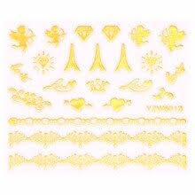 3d <b>Ногтей Наклейки</b> Красоты Золотой Дизайн Марка <b>Nail</b> Art ...