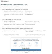 quiz worksheet life of vladimir lenin study com print vladimir lenin biography facts quotes worksheet