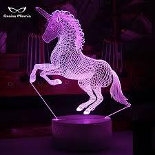 <b>3D Unicorn LED</b> Night Light <b>Unicorn</b> Party Cartoon Chandelier 7 ...