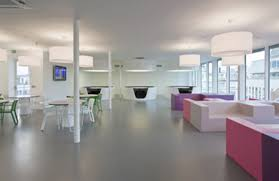 modern and fabulous break room interior office design idea with bright color bright office room interior