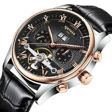 <b>KINYUED Men's Self-Wind Tourbillon</b> Mechanical Watches Water ...