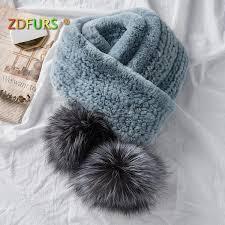<b>ZDFURS* 2018 NEW</b> Popular Women'S Real Fur Scarf Natural Rex ...
