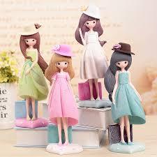 <b>1 New</b> exotic beauty <b>girl dress</b> ornaments resin crafts <b>Girl</b> Birthday Gift