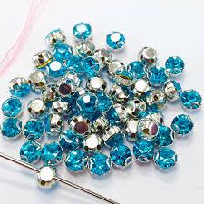 Sew On <b>Crystal Rhinestones Shiny</b> Glass Strass Aquamarine ...