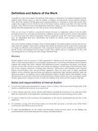duties and responsibilities of internal auditor internal auditors job description