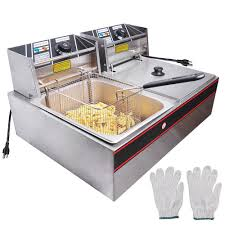 ALDKitchen <b>Double Deep Fryer</b> | 2-Basket <b>Electric</b> Fryer for ...