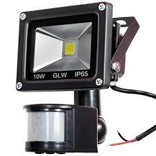 GLW 12V <b>AC</b> or DC <b>LED</b> Motion Sensor Flood Light, 10W Mini IP65 ...