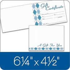 card folded gift certificate 20 cards and envelopes per pack